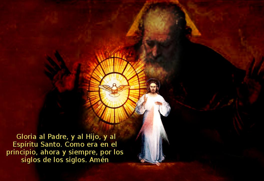 gloria al padre y al hijo y al espiritu santo
