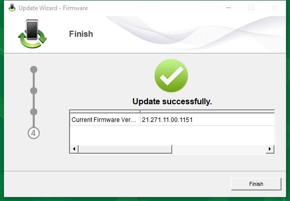 Finish Update ke Firmware e5372s 21.271