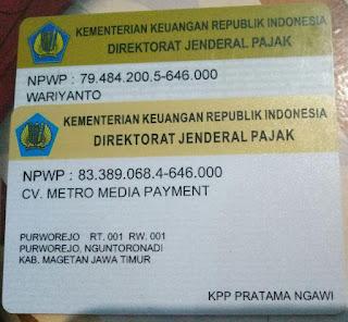 Legalitas Metro Reload CV. Metro Media Payment