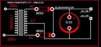power supply ct Skema dan Fungsi nya
