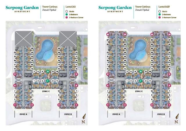 siteplan Apartemen Serpong Garden