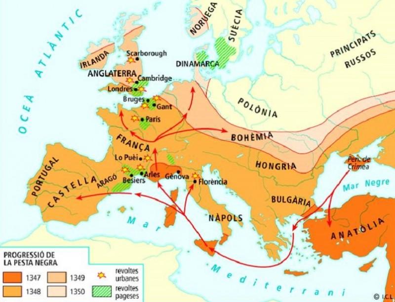 Карта распространения генуйцев