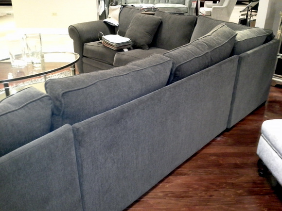 Macyu0027s Devon Fabric Sectional Sofa: From The Back | DIY Playbook