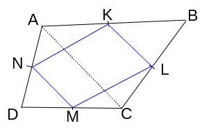 נקודות האמצע של מרובע כלשהו הן קודקדי מקבילית