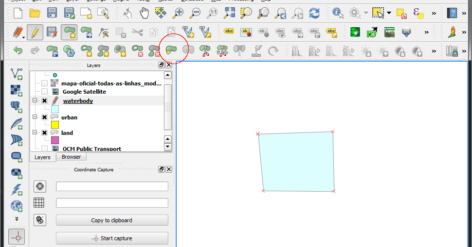 dominoc925: Using QGIS' Reshape Features command to edit