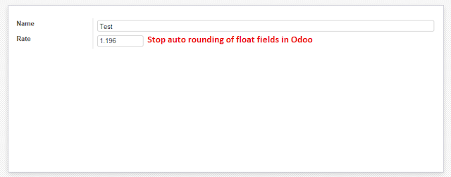 How to stop auto rounding of float fields in odoo