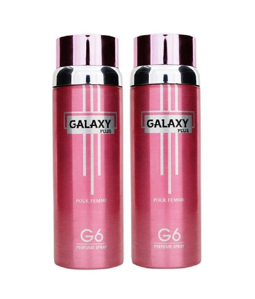 Pack Of 2 - Galaxy Plus G 6 Pour Femme Body Spray 200 ml Each