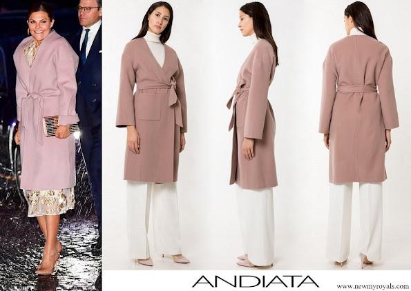 Crown Princess Victoria wore Andiata Odnala wool jacket Pink