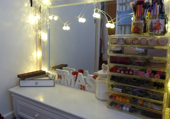 an image of a bloggers dressing table