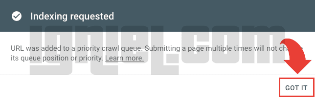 Inspeksi URL di Search Console Tampilan Baru