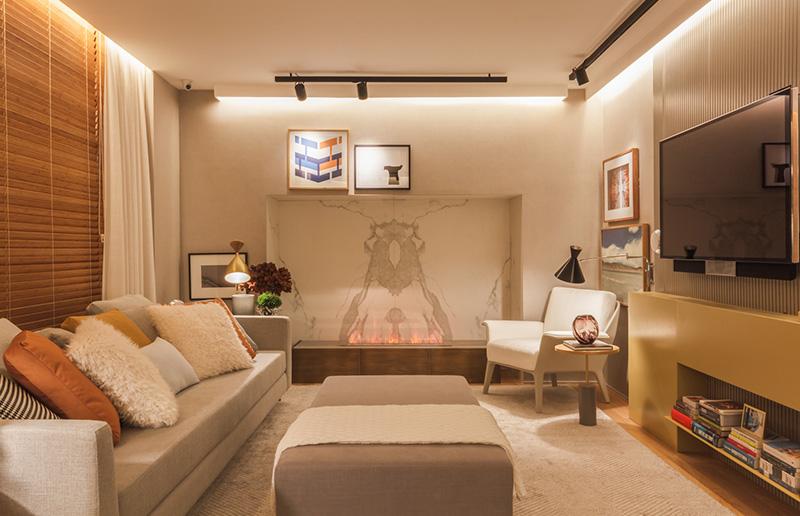 Casa cor s o paulo 2016 inspira o para criar uma sala de for Sala de estar neutra