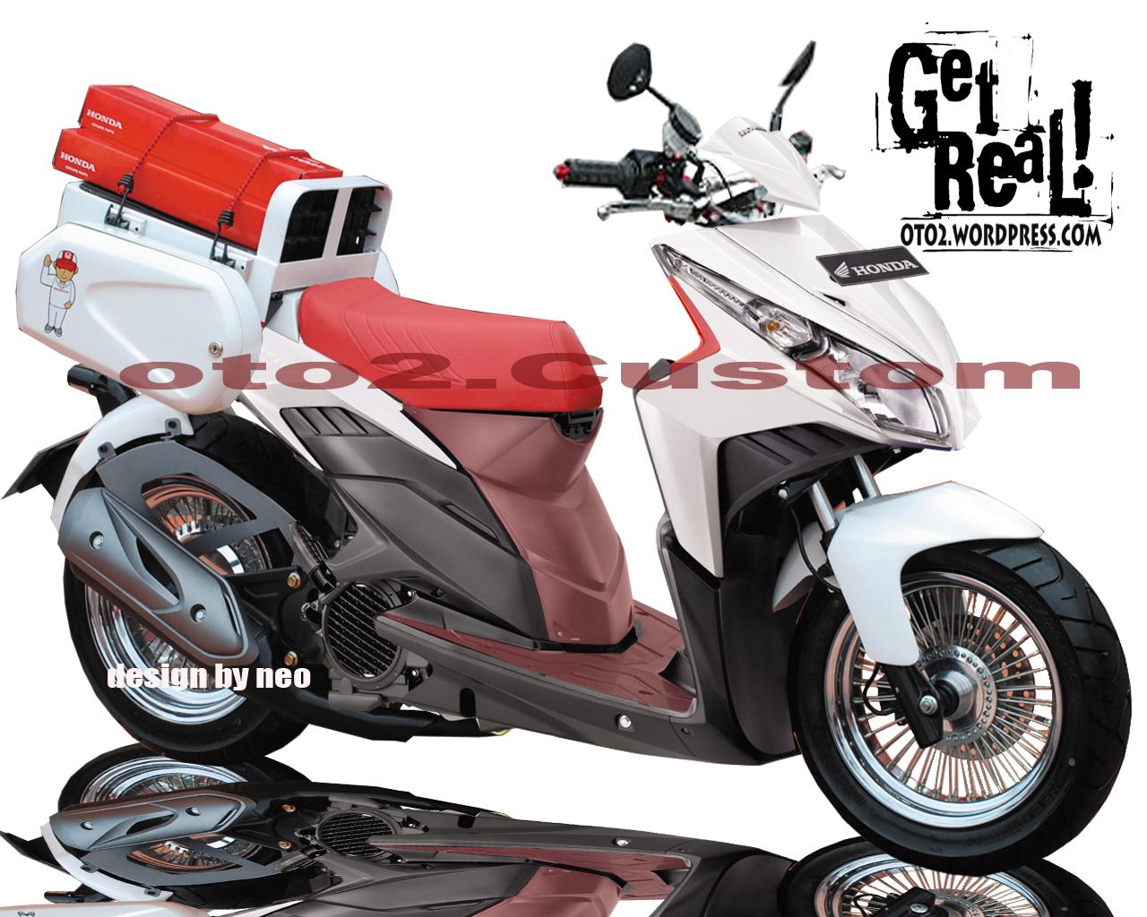 Motor Cycle Modifikasi Modifikasi HONDA VARIO CBS TECHNO REVIEW