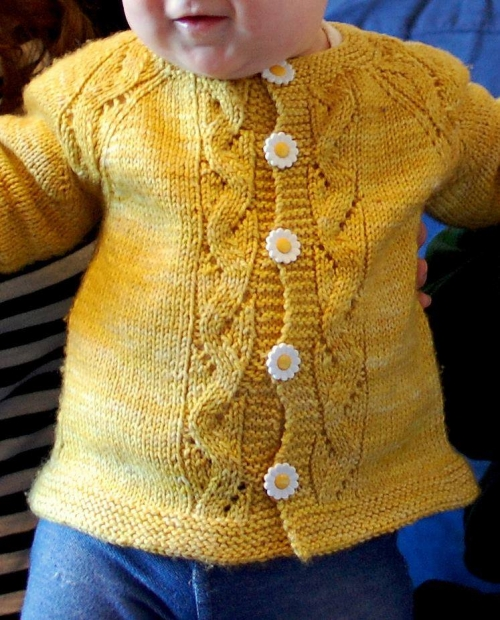 Sunnyside Baby Sweater - Free Pattern