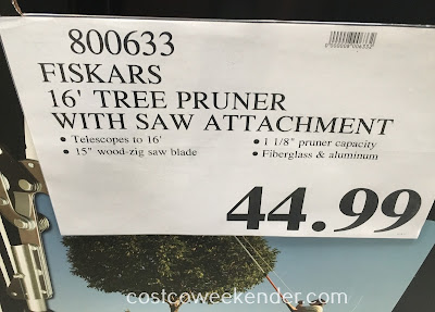 Deal for the Fiskars Telescoping Tree Pruner at Costco