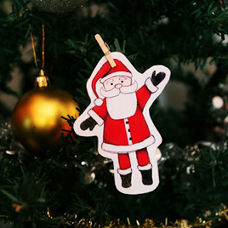 Free Printable Santa Claus last minute decoration