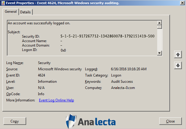 Analecta LLC Graphic - Managing Remote Access Logs - Tracking Authorized users to limit unauthorized access