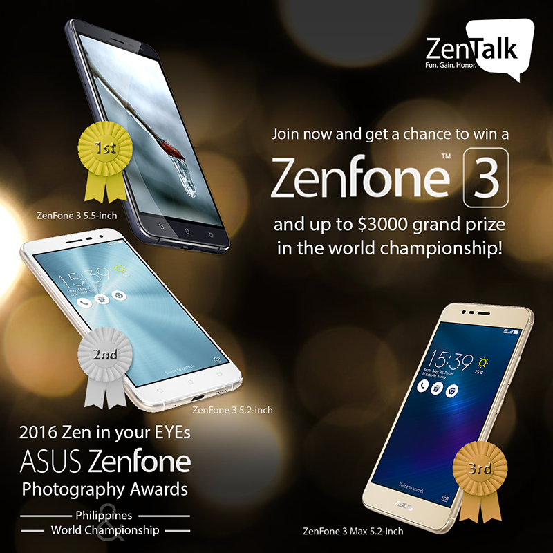 Asus Zen In Your EYEs Photography Contest Announced, Asus ZenFone 3 And Cash Prizes At Stake!