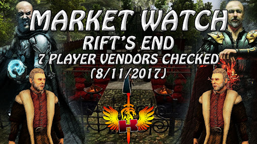Rift's End, 7 Player Vendors Checked (8/11/2017) • Shroud Of The Avatar Market Watch