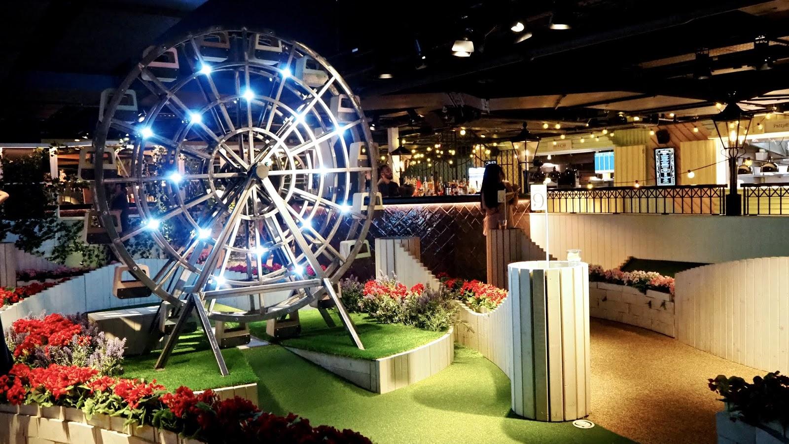 the big wheel at mini golf
