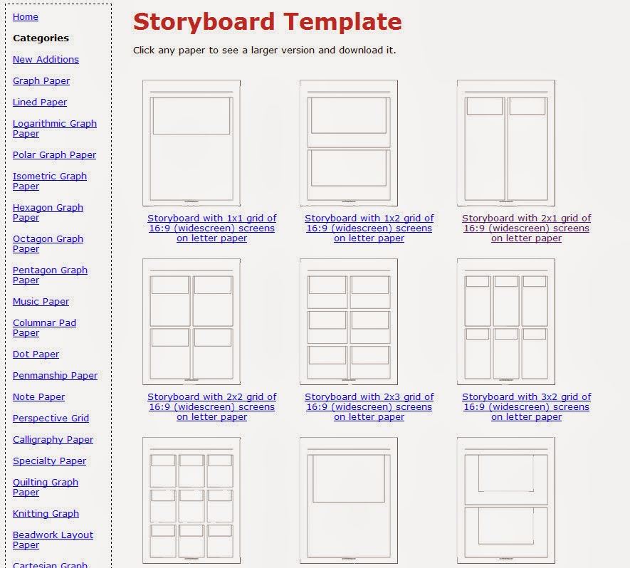 create video notebook a resource for storyboard templates. Black Bedroom Furniture Sets. Home Design Ideas