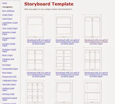 Create Video Notebook A Resource for Storyboard Templates - video storyboard template