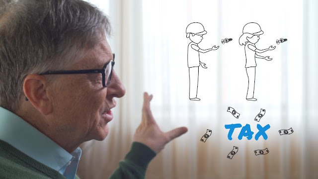 "Bill Gates: ""If a robot replaces the work of a human, this robot must pay taxes like a human"""