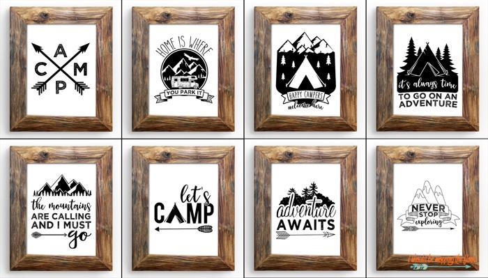 Cute Camping Printables