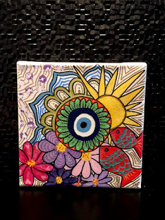 cuadros decorativos, cuadros originales, ojo turco, lola mento ojo