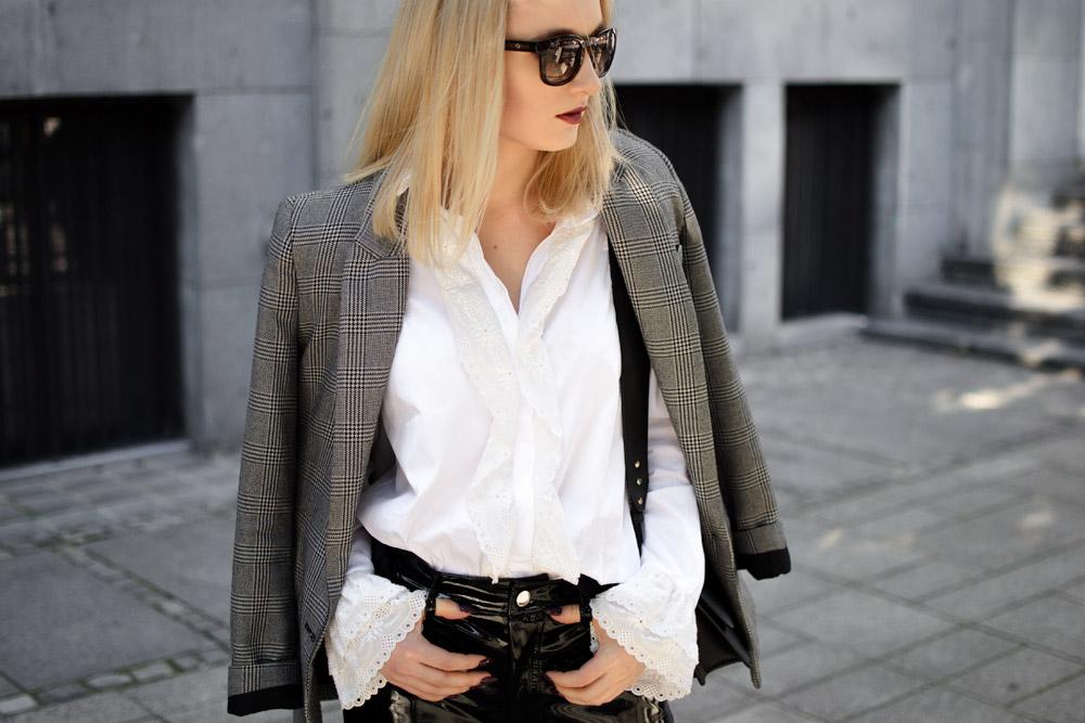 Winylowe spodnie stylizacja 2