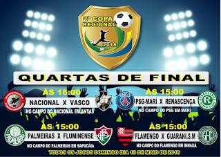 Com Grande Sucesso de Público ,2ª Copa Regional tem rodada decisiva das Quartas de Final; Confira os Jogos!