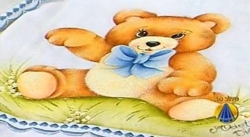 Pintura Em Tecido Passo A Passo Pintura Em Fralda Como Pintar Ursinho