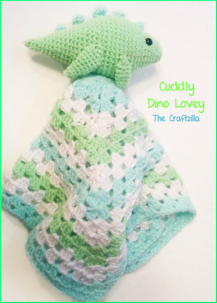 The Craftzilla Dinosaur Lovey Blanket
