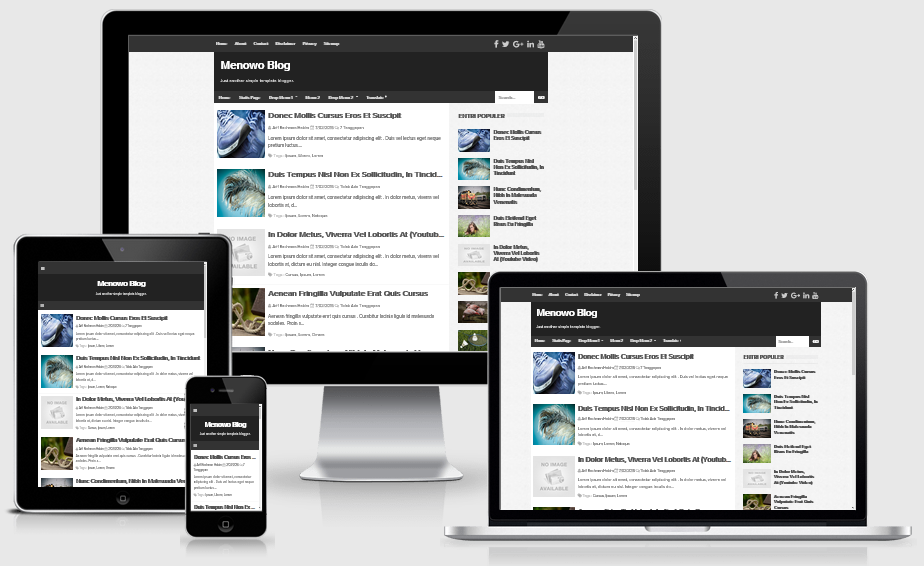 Menowo Blogger Responsive Template Valid HTML5