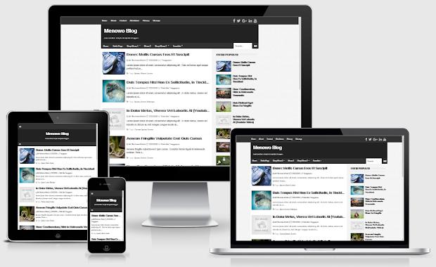 Menowo Blogger Responsive Template Valid HTML5