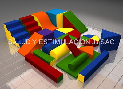 set 19 piezas estimulacion juego espuma psicomotricidad colores rojo azul amarillo verde anaranjado cilindros escaleras quitamiedo cubos rampas barras tobogan colchoneta piso