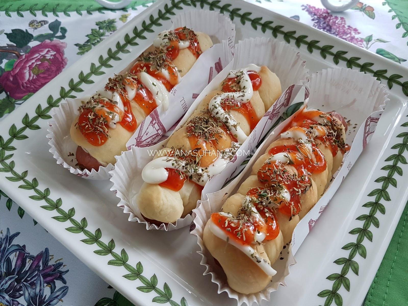 Resipi Roti Sarang Lebah dan Roti Sosej