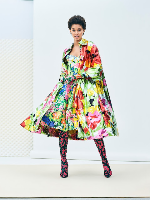 H&M Design Award 2017 - Richard Quinn - strapless ball gown - flower printed coat