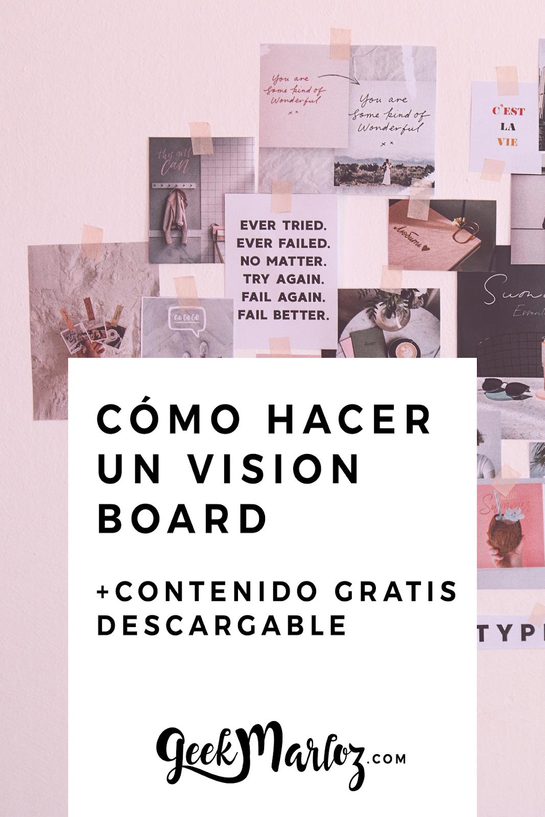Cómo crear tu propio vision board