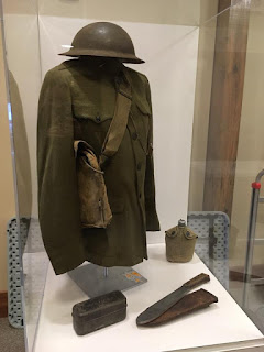 Military uniform from Pennsbury conscientious objector exhibit