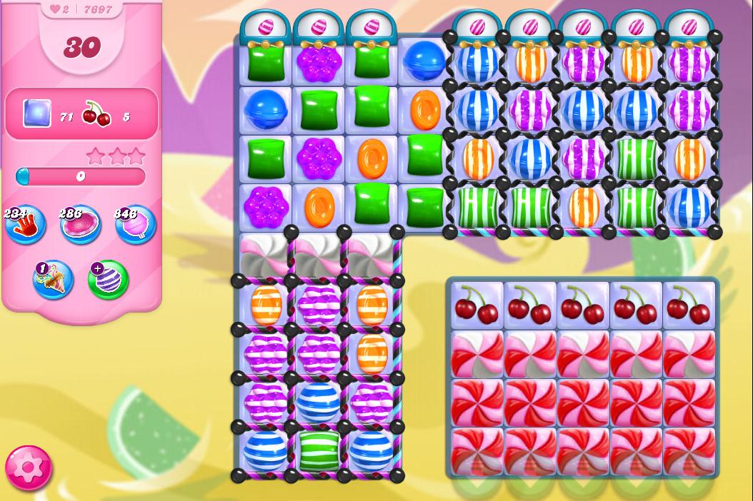 Candy Crush Saga level 7697
