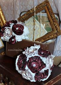satin bridesmaid bouquet