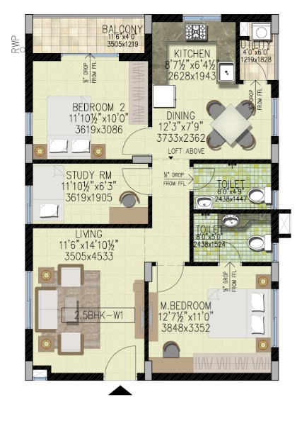 House Drawing Room Designs: West Facing House Plans