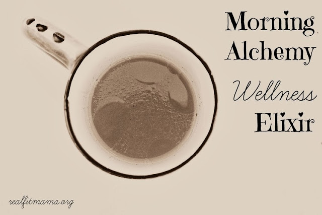 Fall Drink Recipes: Morning Alchemy Wellness Elixir by Real Fit Mama