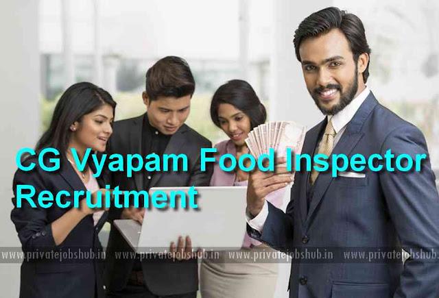 CG Vyapam Food Inspector Recruitment