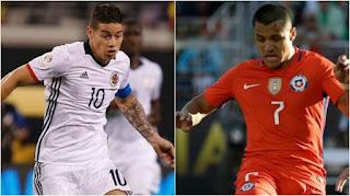 Colombia vs Chile en Copa América Centenario