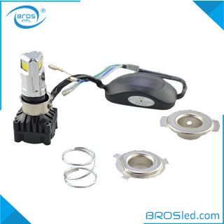 BROSled.com BMHDC3B3020H4-30F LED Motorcycle H4 P15D-25-1 BA20D Hi-Lo Beam Headlight Bulb Conversion Kit with Fan DC 9-30V 6000K COB 3000LM 2000LM 30W (1)