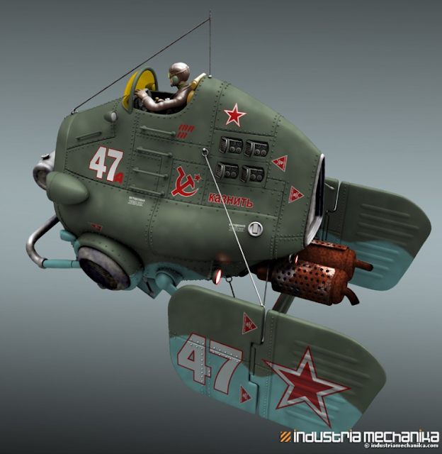 Red Star 47 Soviet Flyer by Christophe Desse