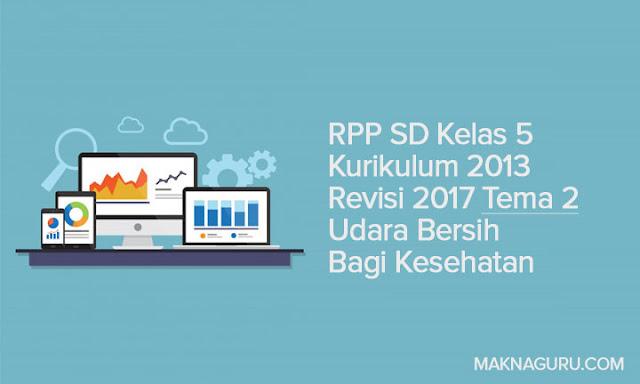 RPP SD Kelas 5 Kurikulum 2013 Revisi 2017 Tema 2 Udara Bersih Bagi Kesehatan