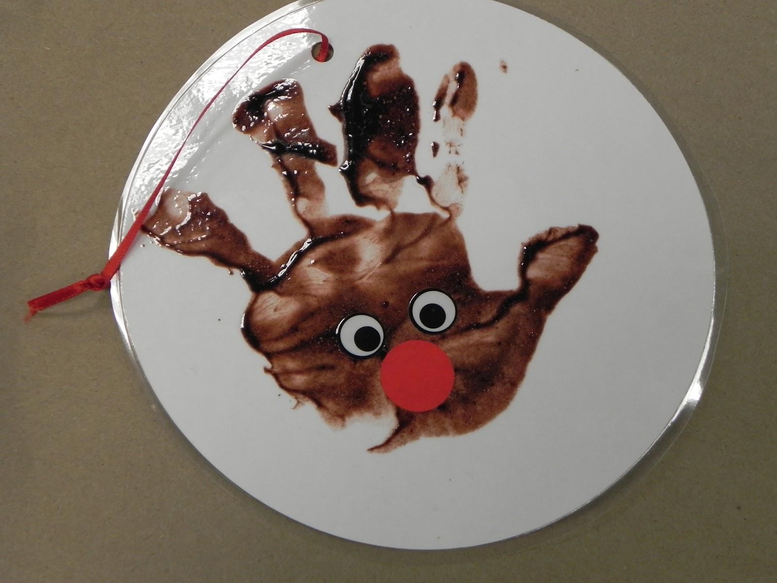 Libraryland Chocolate Handprint Reindeer