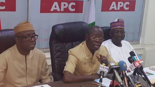 PDP Senator, Others Decamp To APC; Received By Oshiomhole